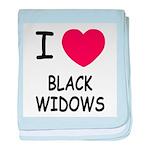 I heart black widows baby blanket