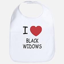 I heart black widows Bib