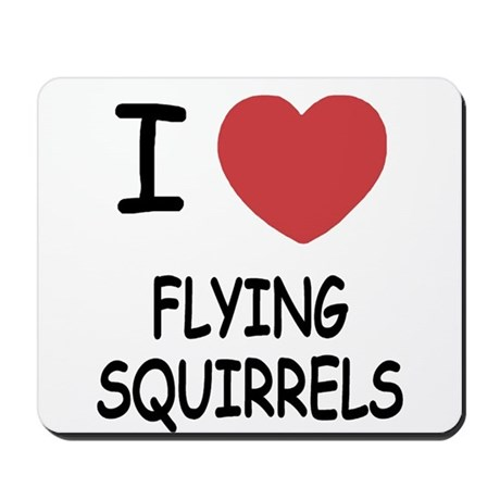 I heart flying squirrels Mousepad