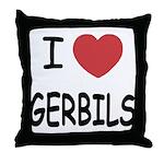 I heart gerbils Throw Pillow