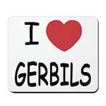 I heart gerbils Mousepad