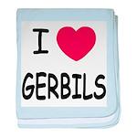 I heart gerbils baby blanket