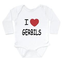 I heart gerbils Long Sleeve Infant Bodysuit