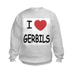 I heart gerbils Kids Sweatshirt