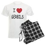 I heart gerbils Men's Light Pajamas