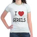 I heart gerbils Jr. Ringer T-Shirt