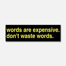 Don't Waste Words Car Magnet 10 x 3