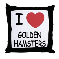 I heart golden hamsters Throw Pillow