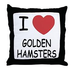 I heart golden hamsters Throw Pillow