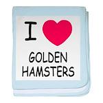 I heart golden hamsters baby blanket