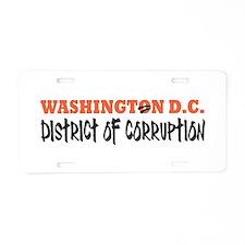 District of Corruption Aluminum License Plate
