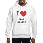 I heart dwarf hamsters Hooded Sweatshirt