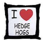 I heart hedgehogs Throw Pillow