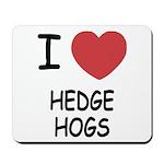I heart hedgehogs Mousepad