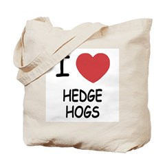 I heart hedgehogs Tote Bag