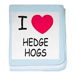 I heart hedgehogs baby blanket