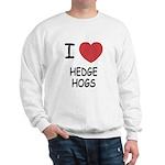 I heart hedgehogs Sweatshirt
