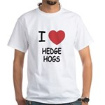 I heart hedgehogs White T-Shirt