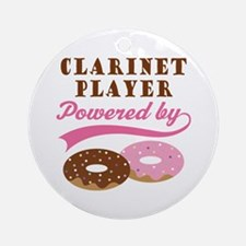 Clarinet Player Powered By Donuts Ornament