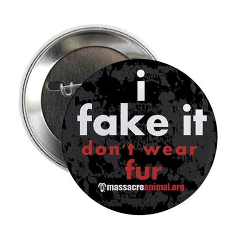 """No Fur Stickers & Pins - 2.25"""" Button (100 pack)"""