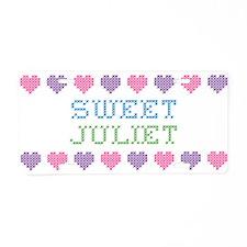 Sweet JULIET Aluminum License Plate