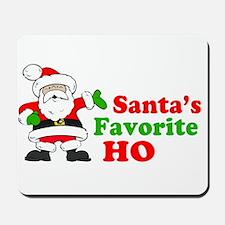 Santa's Favorite Ho Mousepad