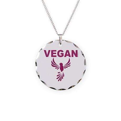 Vegan Necklace Circle Charm