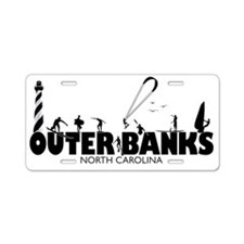 OBX Watersports Aluminum License Plate