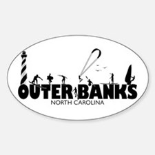 OBX Watersports Sticker (Oval)