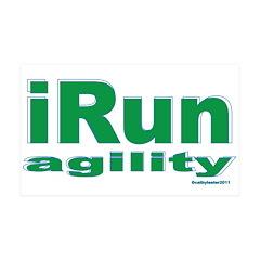 iRun agility Green/Yellow 38.5 x 24.5 Wall Peel