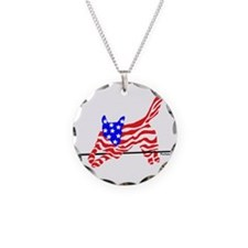 Agility Flag Dog Necklace