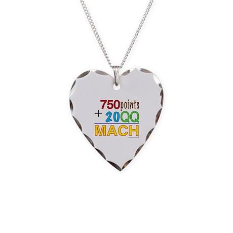 MACH formula Necklace Heart Charm