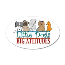 Big Attitudes 22x14 Oval Wall Peel
