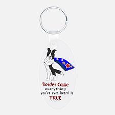 Super Border Collie- black Keychains