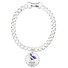 Super Border Collie- black Charm Bracelet, One Cha