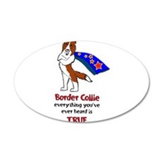 Super Border Collie - everyth 22x14 Oval Wall Peel