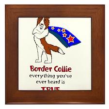 Super Border Collie - everyth Framed Tile