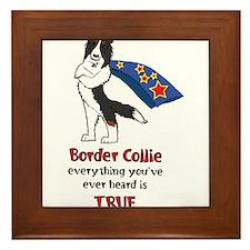 Super Border Collie- Tri Framed Tile
