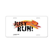 Just RUN! Aluminum License Plate