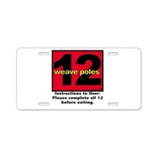 12 Weave Poles Aluminum License Plate