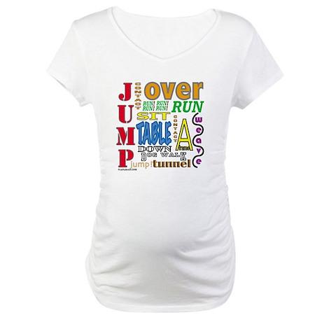 Agility Commands Maternity T-Shirt