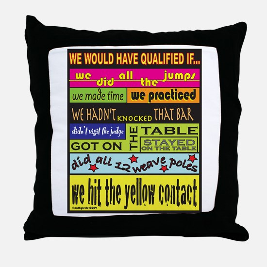 We Would Have Qualified.... Throw Pillow