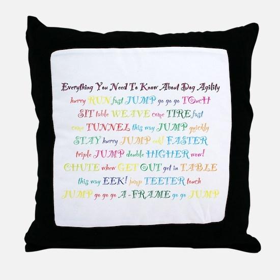 Agility Primer Throw Pillow
