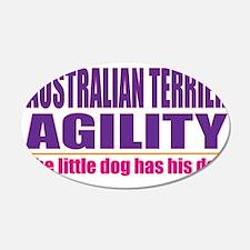 Australian Terrier Agility 22x14 Oval Wall Peel