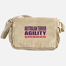 Australian Terrier Agility Messenger Bag