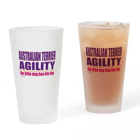Australian Terrier Agility Drinking Glass