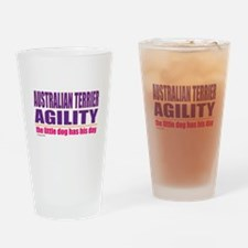 Australian Terrier Agility Drinking Glass