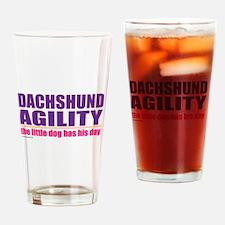 Dachshund Agility Drinking Glass