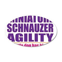 Miniature Schnauzer Agility 38.5 x 24.5 Oval Wall