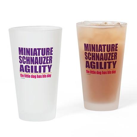 Miniature Schnauzer Agility Drinking Glass